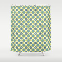 Daisy Argyle Blue Shower Curtain