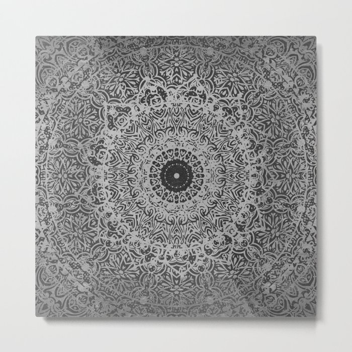 Ash Mandala Metal Print