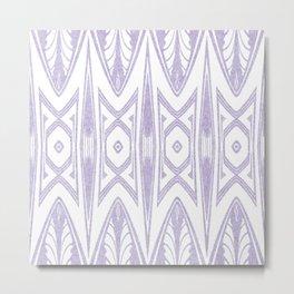 Velvety Tribal Shield in Lilac Metal Print