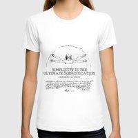 da vinci T-shirts featuring Leonardo Da Vinci by Uriya Ganor