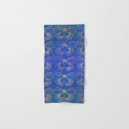 Butterfly Stacks on Blue Watercolor Pattern Hand & Bath Towel
