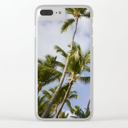 Palmy Blue. Clear iPhone Case