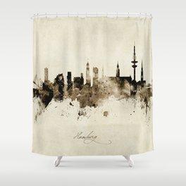 Hamburg Germany Skyline Shower Curtain