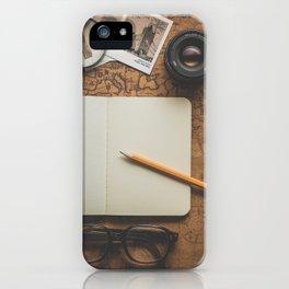 Vintage Travel/Adventure Accessories iPhone Case