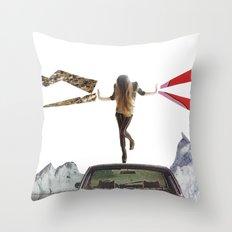 lady lightning Throw Pillow