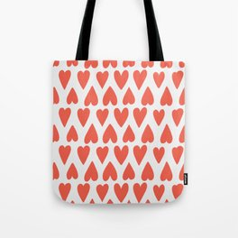Shapes Nr. 4 - Red Hearts Tote Bag
