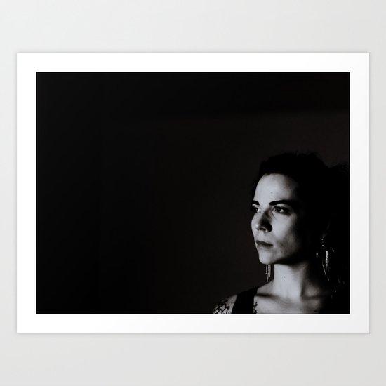 Low Key Self Portrait Art Print