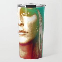 Sharon Tate Collage Portrait Travel Mug