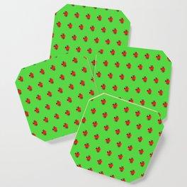Strawberry Green - Posterized Coaster