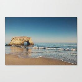 Natural Bridges State Beach ... Canvas Print