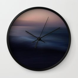 Seascape blue abstract Wall Clock