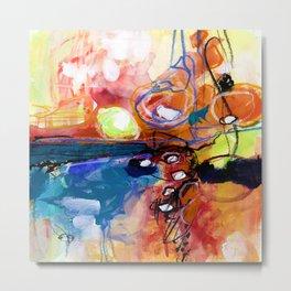 Abstract Soul Dance 1a by Kathy Morton Stanion Metal Print