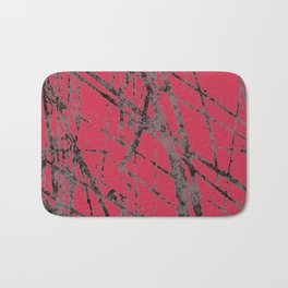 red black scratchy grunge Bath Mat