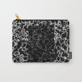 Black and white marble texture 8 Carry-All Pouch