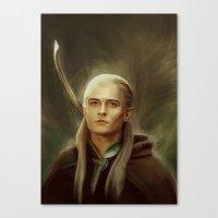 legolas Canvas Prints featuring Legolas by taryndraws2