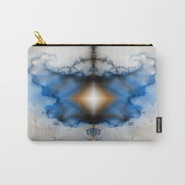 Dream Catcher Blue and White Fractal Carry-All Pouch