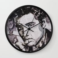 elvis Wall Clocks featuring Elvis by Ross Collins Artist