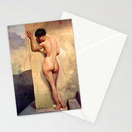 Nude At The Wall Stationery Cards