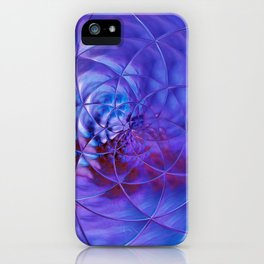 blue ln iPhone Case