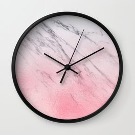 Cotton candy marble Wall Clock