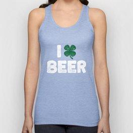 I Clover Beer St. Patricks Day Funny Irish Shamrock Unisex Tank Top
