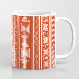 Boho Mud Cloth (Coral) Coffee Mug