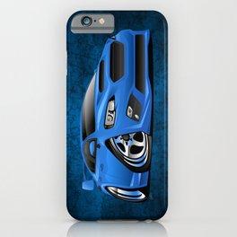 Import Sports Sedan Cartoon Illustration iPhone Case