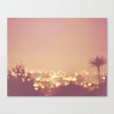 Summer Nights. Los Angeles at night photograph. Canvas Print