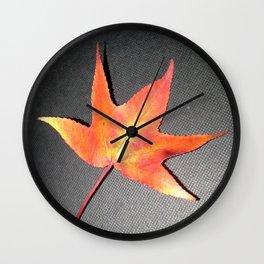 A Single Leaf Wall Clock
