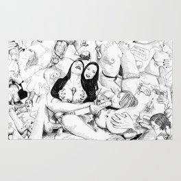 sex collage Rug