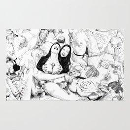 sex collage Rug