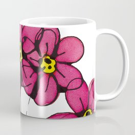 Seven Flowers (Pink): gorgeously simple original art, vibrant flowers in a pot Coffee Mug