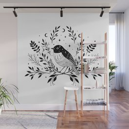 A Bird with Seven Moons Wall Mural