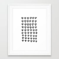 diamonds Framed Art Prints featuring Diamonds by Geryes