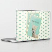 lama Laptop & iPad Skins featuring Lama by Monika Strigel