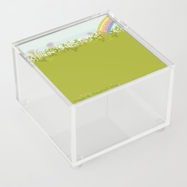 Sunny Day. Clovers. Acrylic Box
