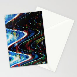 VHS-STYLE DISTORTION Stationery Cards