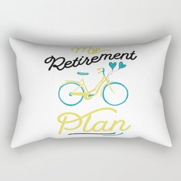 My retirement plan bike / old parents bicycle / grandpas bike gift - grandma bicycle idea - Funny Bike Riding Rider Retired Cyclist Rectangular Pillow