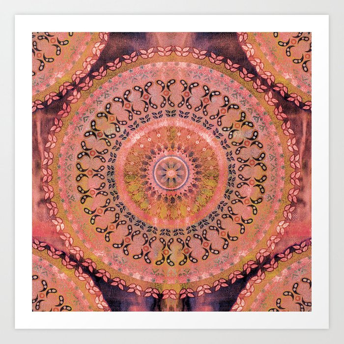 Mango Mandala Art Print