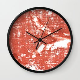 Bright red abstract Wall Clock