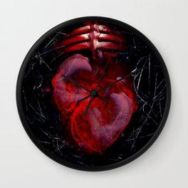 Orbital Hearts Wall Clock