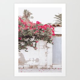 """Travel photography print """"Blooming Barcelona"""" photo art made in Spain. Pastel colored. Art Print. Art Print"""