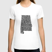 alabama T-shirts featuring Typographic Alabama by CAPow!