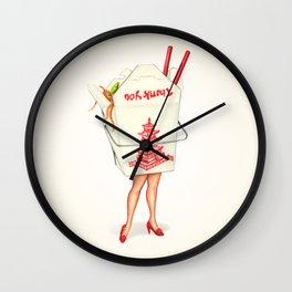 Chinese Takeout Pin-Up Wall Clock