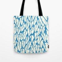 fringe Tote Bags featuring Feathered Fringe by Joe Van Wetering