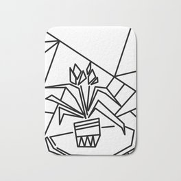 Flowers on the window -coloring Bath Mat