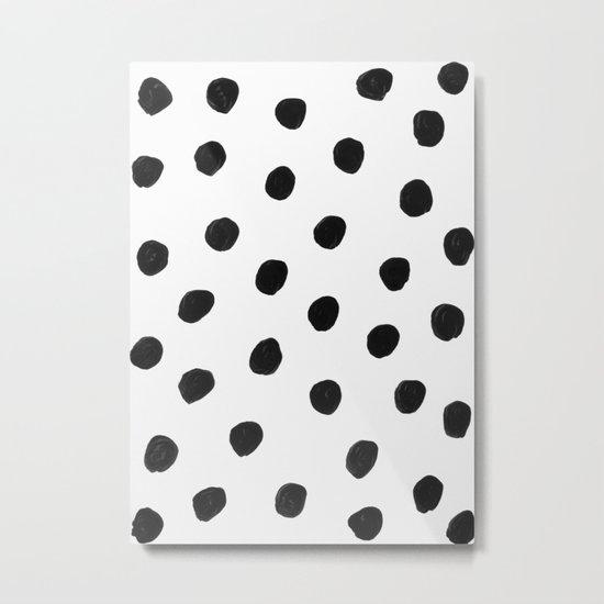 in black dots Metal Print