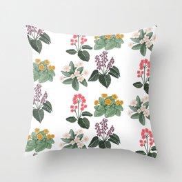 Vintage Botanicals Throw Pillow