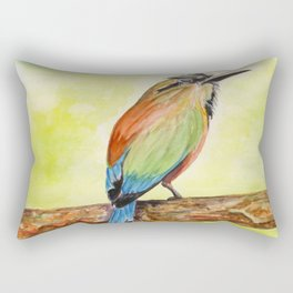Turquoise Browed Motmot — National Bird of El Salvador Rectangular Pillow