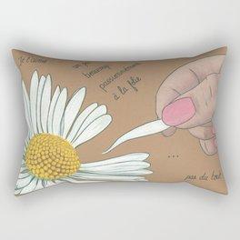 Je t'aime...un peu...beaucoup Rectangular Pillow